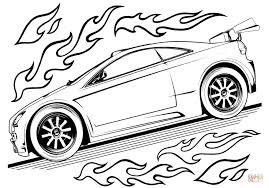 Small Picture Hot Wheels Car coloring page Free Printable Coloring Pages