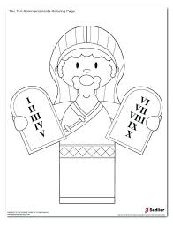 Ten Commandments Coloring Page Socialmetricinfo