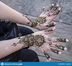 показ татуировки хны стоковое фото изображение насчитывающей