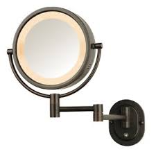 lighted wall mirror. lighted wall mount makeup/shaving mirror r