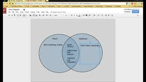 How To Make A Venn Diagram On Google Drawing Venn Diagram In Google Draw Youtube