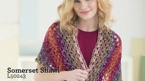Lion Brand Shawl In A Ball Pattern
