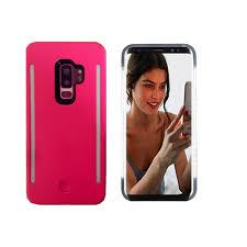 Light Up Samsung S9 Case Selfie Led Light Case For Samsung S9 Plus Lntech Rechargeable Led Light Up Flash Lighting Front And Back Lights Selfie Case Illuminated Cover Pink