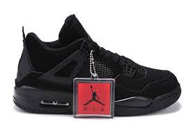 jordan shoes retro 4. air jordan 4 (iv) retro black cats all black-light graphite-4 shoes