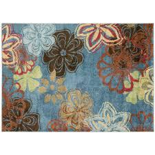 blue burst 5 x 7 area rug
