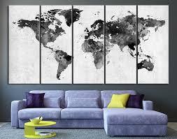 aa grande trend world map wall decor
