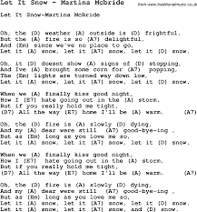Lights Down Low Fingerstyle Song Let It Snow By Martina Mcbride With Lyrics For Vocal