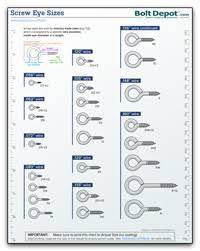 Eye Bolt Size Chart Pdf Bolt Depot Printable Fastener Tools
