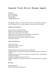 Best Armored Truck Delivery Driver Resume Sample Expozzer