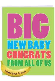 Big New Baby Congrats Jumbo Card