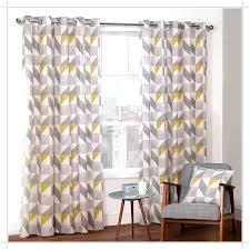 grey geometric curtains uk