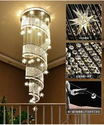 <b>LED Modern K9</b> Crystal Chandelier Light Ceiling Villa Stairs ...