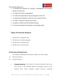 A study on financial performance analysis at cv