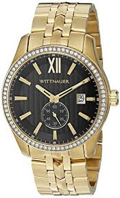 amazon com wittnauer men s wn3032 22mm stainless steel gold watch wittnauer men s wn3032 22mm stainless steel gold watch