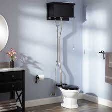 Pull Chain Toilet Gorgeous Black High Tank Pull Chain Water Closet With Round Victorian Bowl