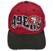 san francisco 49ers embroidered baseball hat sf forty niners logo cap nfl