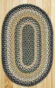 black mustard creme oval jute rug 27 x 45 inch