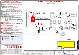 emergency evacuation diagrams   qbm   asbestos inspections    evacuation diagram