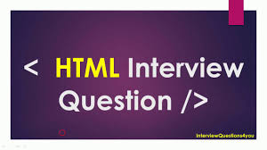 Front End Designer Interview Questions Html Web Developer Interview Questions
