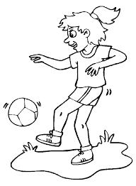 Kids N Fun Kleurplaat Voetbal Meisjes Voetbal