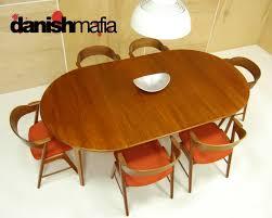 mid century danish modern oval henning kjærnulf teak table 5