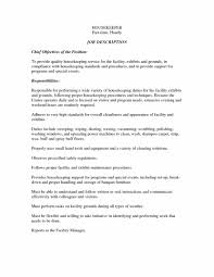 Resume Examples For Hotel Housekeeping Home Residential
