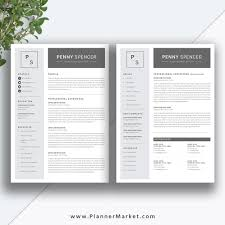 Modern Simple Resume Template Resume Template Simple Cv Template Professional Modern Resume
