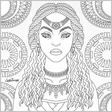 Tribal Queen Coloring Page Color Therapy App Coloring Page
