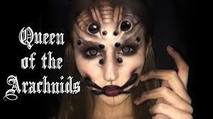 queen of arachnids spider makeup tutorial you