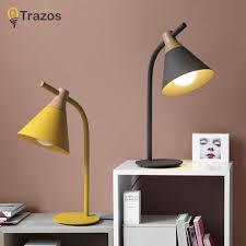 ซอทไหน Colour Table Lamp Trazos Vintage Loft Wooden Led Desk