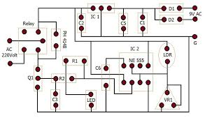 automatic street light controller circuit diagram wiring diagram when light falls on the ldr then its resistance decreases which results in increase of the voltage at pin 2 of the ic 555