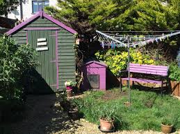 Garden Sheds In Bright Colours Ronseal Purple Berry Used To