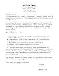 Cover Letter Examples Receptionist Best Receptionist Cover Letter