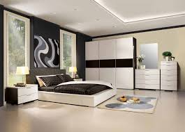 charming modern mens bedroom design with white furniture bed and storage cabinets furnished with twin night lamps on nightstand and also completed with rug bedroom designs with white furniture