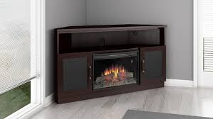 aragon corner electric fireplace entertainment center in dark wenge finish ft60cccfb