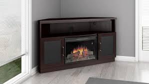 aragon corner electric fireplace entertainment center in dark wenge finish ft60cccfb