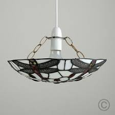 stained glass ceiling light. Image Is Loading Vintage-Tiffany-Mosaic-Dragonfly-Stained-Glass-Ceiling- Light- Stained Glass Ceiling Light N