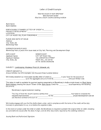 Sample Letter Of Credit Best Ideas Of Business Letter Of Credit for Your Example Of Business 1