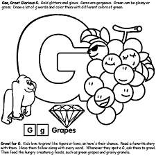 Alphabet G Coloring Page