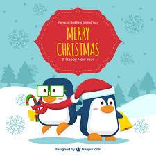 cute penguin christmas backgrounds. Interesting Christmas Cute Christmas Penguins Background Free Vector For Penguin Christmas Backgrounds C