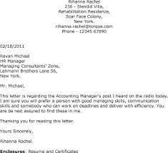cover letter for accounting position cover letter for manager position