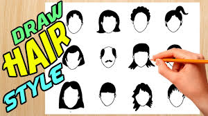 Type Of Hair Style draw different types of hair style youtube 5749 by wearticles.com
