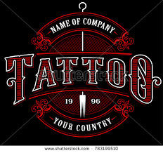 Letters For Tattoos Names Template Classy Vintage Tattoo Lettering Illustration Tattoo Design Stock Vector