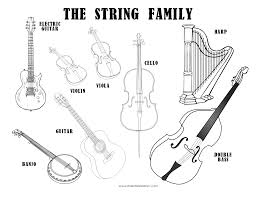 Small Picture Musical Instruments Coloring Sheet The String Family