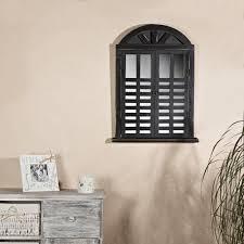 Deko Spiegel Fensterladen Shabby Holz Spiegel Rundbogen Landhaus