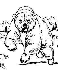 Small Picture Grizzly Bear Coloring Page FunyColoring