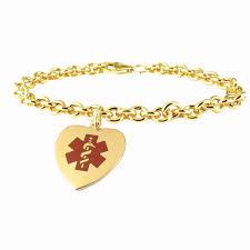 10k gold name necklace new gold medical id bracelets necklaces