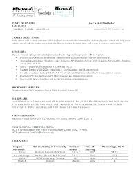 Sample Resume For Experienced System Administrator Best of Sample Resume For Windows Server Administrator Fresher Systems