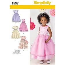 Dress Patterns For Toddlers Stunning SIMPLICITY SEWING PATTERN TODDLERS CHILD S SPECIAL OCCASION DRESS