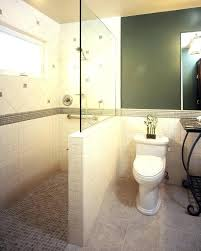 half wall shower enclosure glass spaces traditional with tile plastic panels